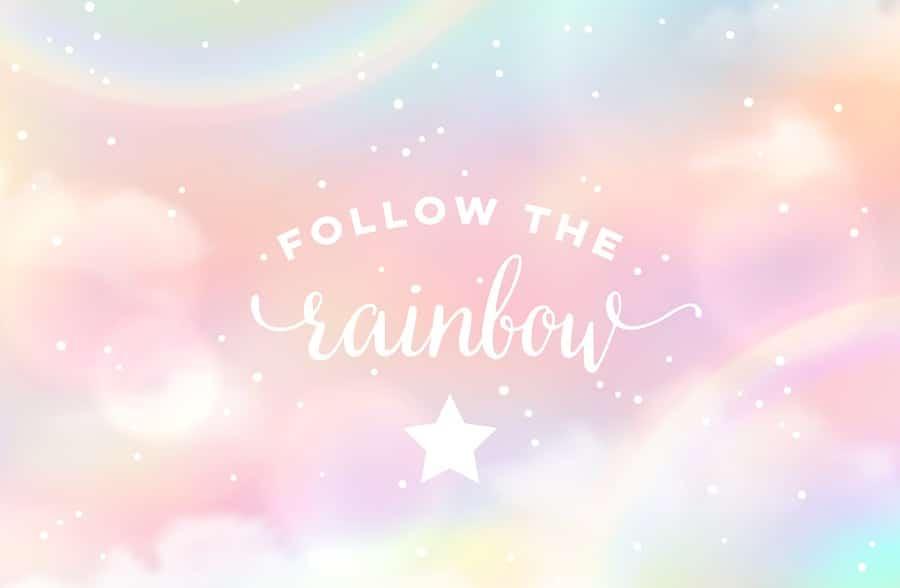 Unser Regenbogen strahlt in allen Farben