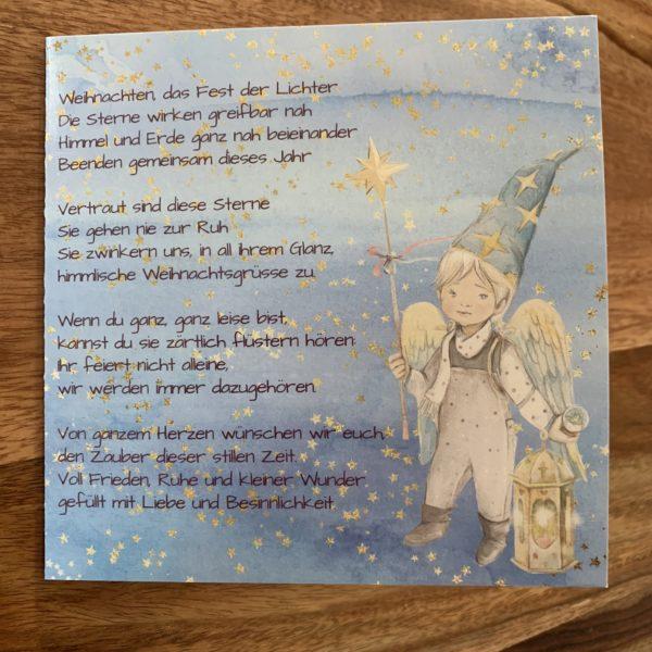 Weihnachtskarte für Sternenfamilien