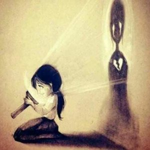 Unsichtbares Gebrochenes Herz