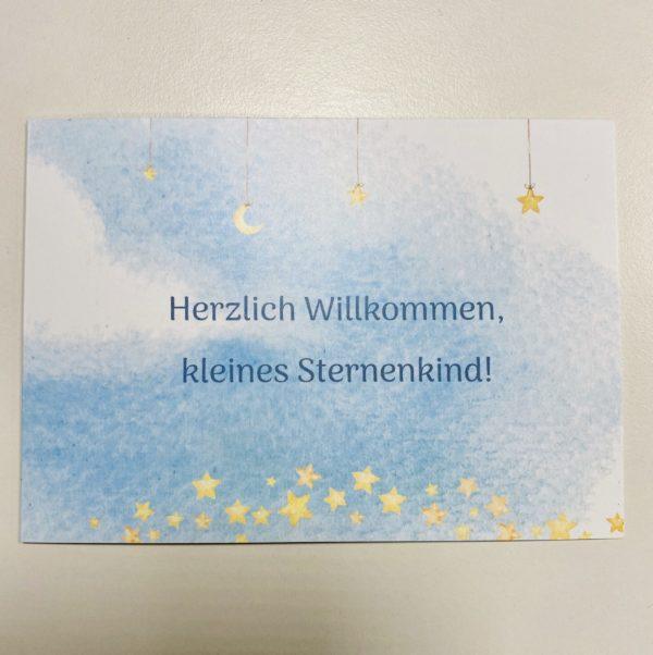 Geburtskarte blau Sternenkind