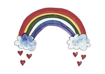 Kleines Regenbogen-Mädchen – geboren in Liebe und in Trauer!